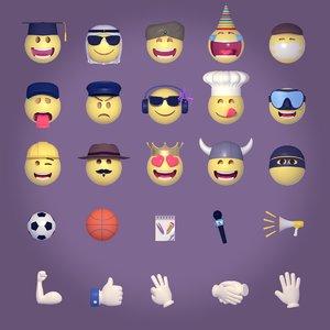 characters emoticons 3D model