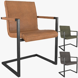 3D hudson channel stitched dining chair