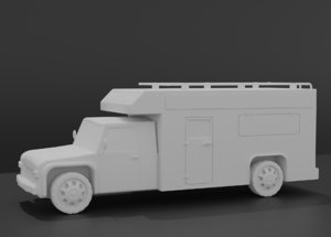3D rv motorhome camper model