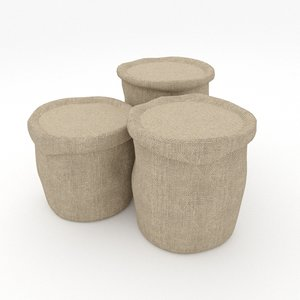 hessian sacks 3D model