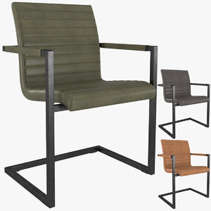 hudson channel stitched dining chair 3D model