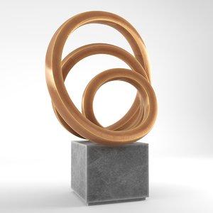 modern decorative abstract bronze 3D