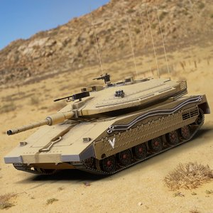 3D merkava main battle tank model