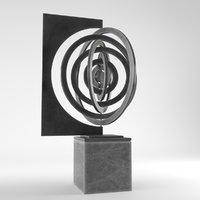 Modern Decorative Abstract Metal Art Sculpture 05