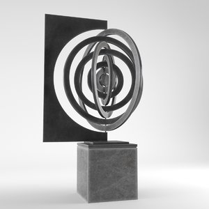 3D model modern decorative abstract metal