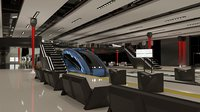 Futuristic Train Station