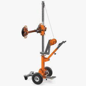 3D portable glass vacuum lifting model