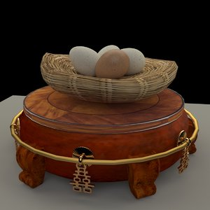 chinese display stand egg 3D