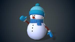 3D snowman snow cute model