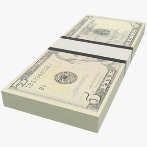 dollars bills 3D model