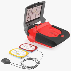 3D automated external defibrillator model