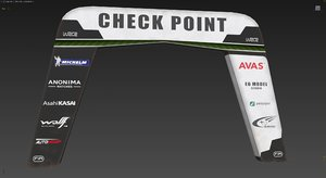 3D start finish checkpoint model