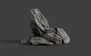 rock games 3D model