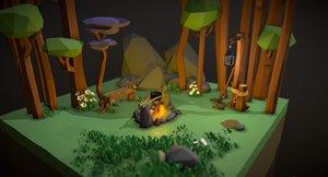 bushfire forestfire 3D