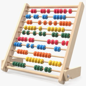 3D kids educational wooden abacus