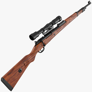 mauser kar98k bolt action 3D model