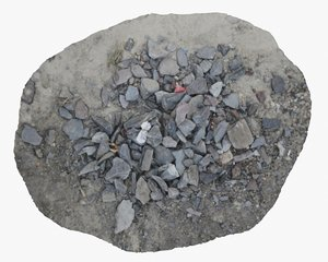 rock rubble debris junk 3D model