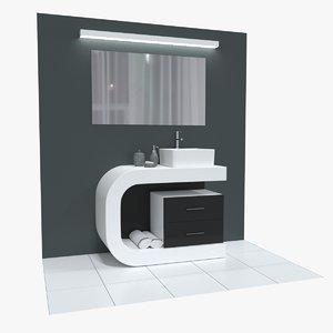 3D washbasin cabinet
