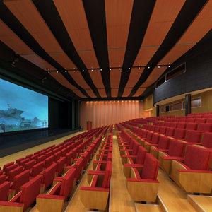 3D model theater auditorium