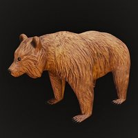 Bear Rigged and Low Poly