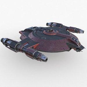 3D lanzer class spaceship