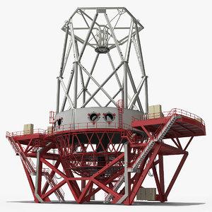 3D reflecting telescope model