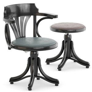 3D piano chair stool model