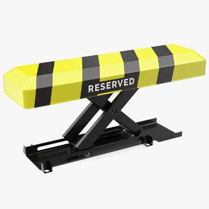 3D automatic parking barrier remote control
