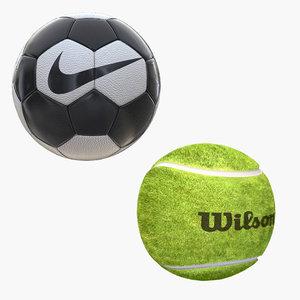 3D soccer ball tennis