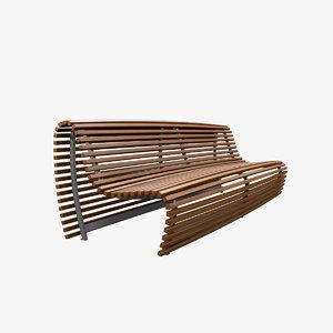 garden bench model