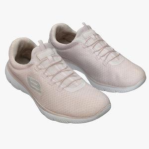 3D pink sneakers model