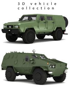 military vehicle 3D model