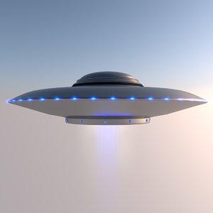 3D ufo flying saucer model
