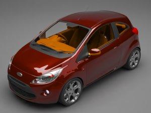3D car sedan