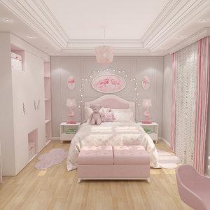 girls bedroom model