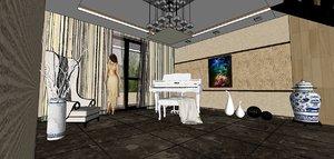 living music room 3D