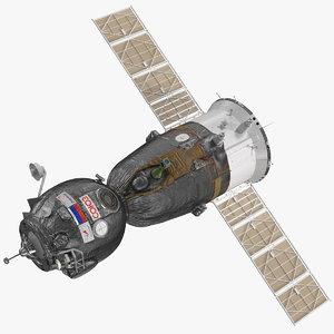 soyuz ms manned spacecraft 3D model