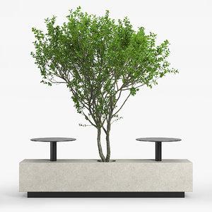 3D tree bench