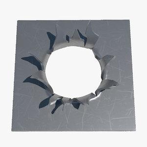 metal tear 3D model