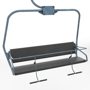 ski lift chair polys 3d model