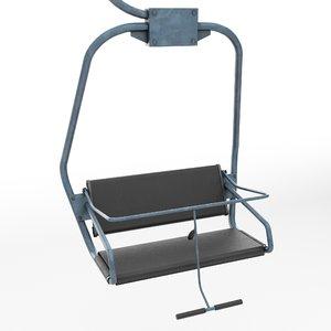 3d ski lift chair small