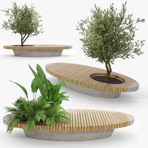 flowerbed 3D model