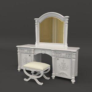 3D dressing table european model