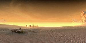 desert gobi people wilderness 3D