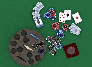 table gambling poker chips model