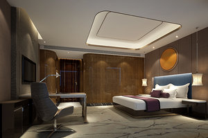 3D bed room interiors