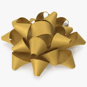 3D gold bow v 6