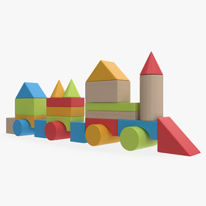 3D baby building blocks 2