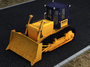 3D bulldozers construction municipal vehicles model