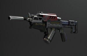 3D sci-fi firearms laser aliens model